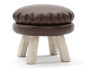 Bleu Nature Mattak stool 3D