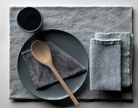 3D model Napkins with Tableware