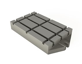 T-slot base plates for axial machines 3D asset