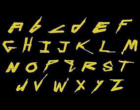 symbol Stylized Cyberpunk 2077 Font 3D