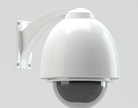 cam White Security Camera 3D model