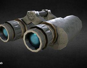 Stylized binocular 3D model VR / AR ready