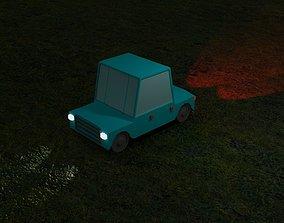 Low Poly car 3D print model