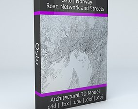 Oslo Road Network and Streets 3D