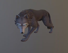 3D asset animated Game ready rigged wolf
