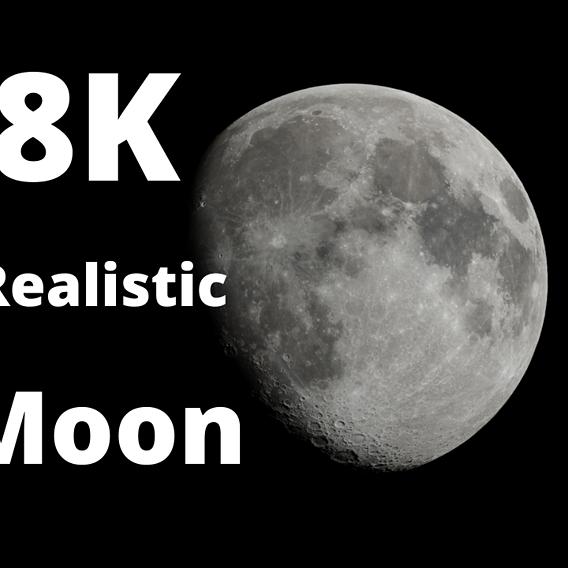 *Free* 8K Realistic Moon