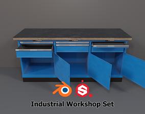 3D asset Industrial Workshop WorkBench 3 PBR