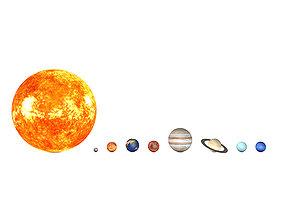 3D asset High Quality Planets