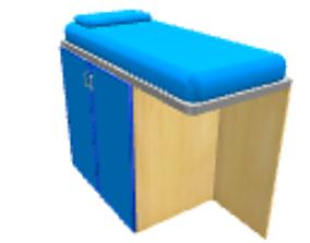 3D Blue loft table