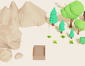 3D asset Low Poly Environment - 20 models with 3 sprites 2