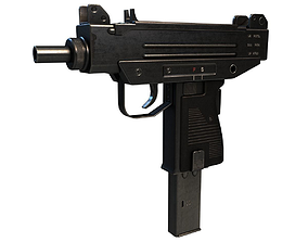 Micro Uzi SMG 3D asset