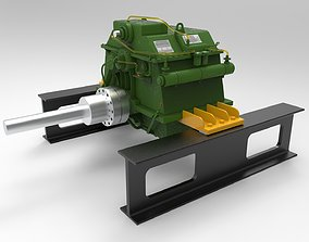 3D model Gearbox engine
