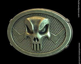 The Punisher skull vol1 belt buckle 3D print model