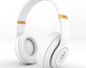 Headphones Beats Studio white 3D