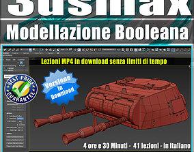 3ds max Modellazione Booleana Tutorial MP4