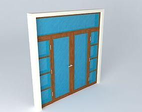 3D Main glass door