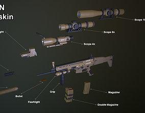 Scar FN 3D asset low-poly