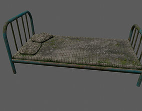 3D model game-ready old bed