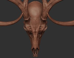 3D Deer Antler 01 Highpoly