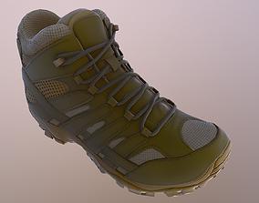 3D asset Military Boot