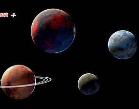 Planet mini pack 3D asset