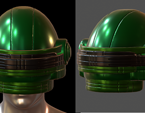 game-ready Gas mask helmet 3d model scifi futuristic