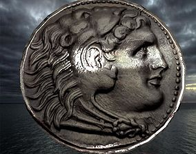 3D model Alexander the great coin