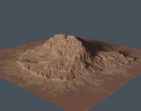 Eroded Mountain 3D