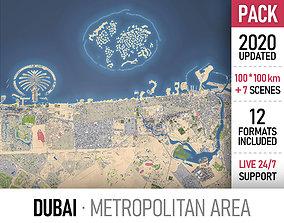 3D model Dubai Metropolitan Area