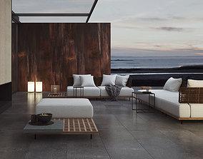 Quadrado Sofas By Minotti 3D model