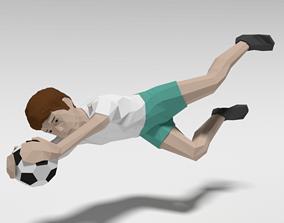 3D asset Low Poly Goalkeeper Kid