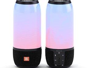 Portable speaker JBL Pulse 3 Black 3D model