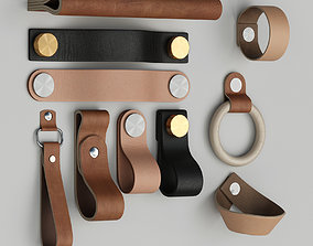 3D Furniture leather handles set