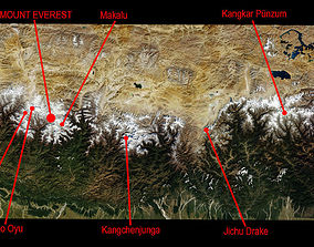 Himalaya Mountains Mount Everest Area 3D model