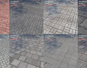 3D model Ultra realistic Pack Floor Tiles