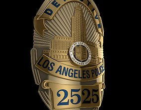 3D LAPD badge police