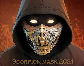 Scorpion mask for face from Mortal Kombat 2021 3D print
