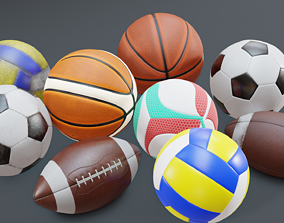 3D asset Sports Ball Pack