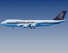 Singapore Airlines Boeing 747 3D model