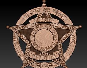 3d STL Model Sheriff badge