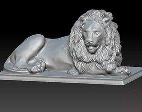 memorial 3D print model Lion statue