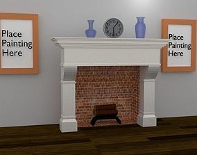 3D model VR / AR ready Fireplace
