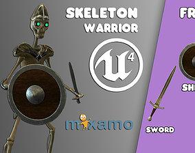 Skeleton Warrior 3D asset rigged