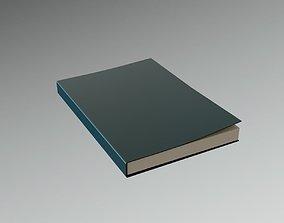 Slightly open Book Lowpoly 3D asset