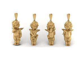 4 love angels pendant 3D print model