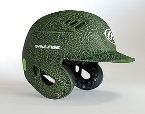 3D Green Baseball Batting Helmet