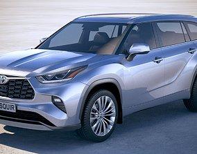3D Toyota Highlander 2020