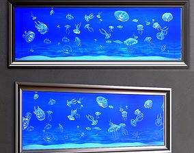 3D aquarium with jellyfish