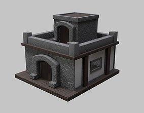 Small Stone Village House 3D asset