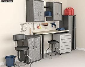 3D model Garage Furniture 05 Set